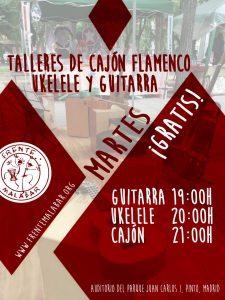 Talleres de Cajón flamenco, Ukelele y Guitarra